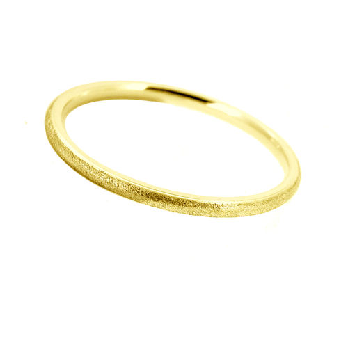 Ring 375 Gold eismatt